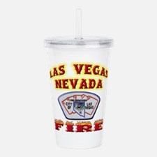 vegasfire.png Acrylic Double-wall Tumbler