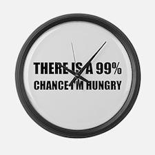 Chance I Am Hungry Large Wall Clock