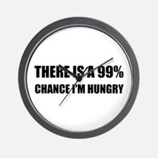 Chance I Am Hungry Wall Clock