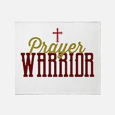 Prayer Warrior Throw Blanket