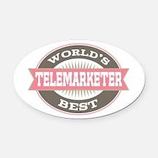 telemarketer Oval Car Magnet