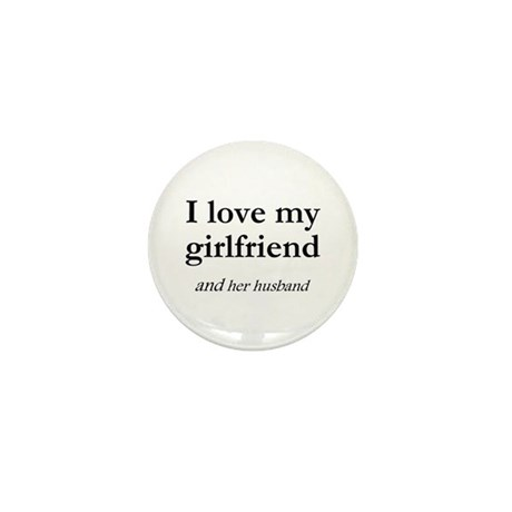 Girlfriend/her husband Mini Button (10 pack)