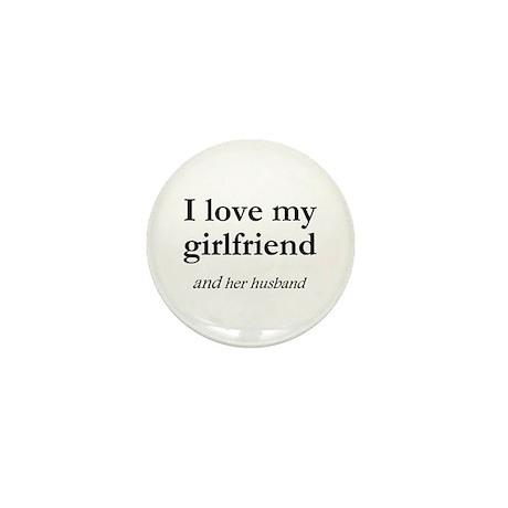 Girlfriend/her husband Mini Button