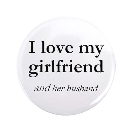 """Girlfriend/her husband 3.5"""" Button (100 pack)"""