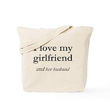 Girlfriend/her husband Tote Bag