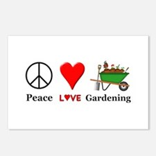 Peace Love Gardening Postcards (Package of 8)