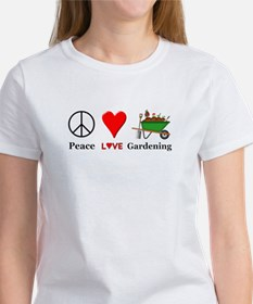 Peace Love Gardening Women's T-Shirt