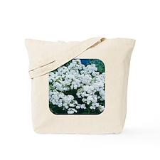 Phlox White Tote Bag