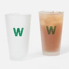 W (Green) Drinking Glass
