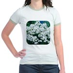 Phlox White Jr. Ringer T-Shirt