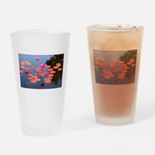 water lily, garden pond photo Drinking Glass