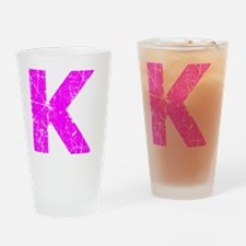 K (Pink) Drinking Glass