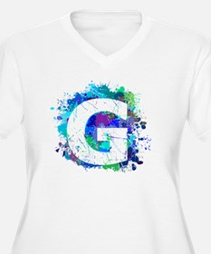 G (Ink Spots) (Blue) Plus Size T-Shirt
