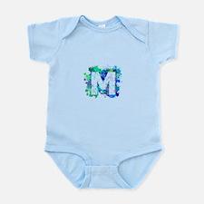 M (Ink Spots) (Blue) Body Suit