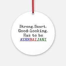 be azerbaijani Round Ornament