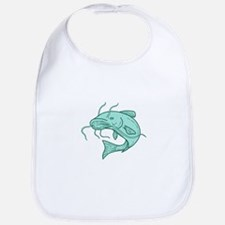 Catfish Mud Cat Jumping Mono Line Baby Bib