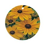 Rudbeckia - Black Eye Susan Ornament (Round)