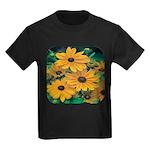Rudbeckia - Black Eye Susan Kids Dark T-Shirt