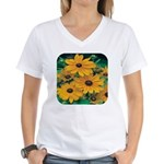 Rudbeckia - Black Eye Susan Women's V-Neck T-Shirt