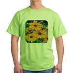 Rudbeckia - Black Eye Susan Green T-Shirt