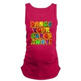 Dance your cares away fragile rock Dark Maternity Tank Top