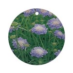 Scabiosa Blue Ornament (Round)