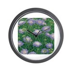 Scabiosa Blue Wall Clock