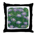Scabiosa Blue Throw Pillow