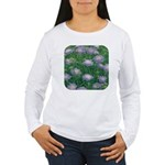 Scabiosa Blue Women's Long Sleeve T-Shirt