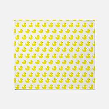 Rubber Ducky Pattern Throw Blanket
