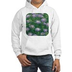 Scabiosa Blue Hooded Sweatshirt