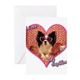 Papillon valentine Greeting Cards (10 Pack)