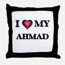 I love Ahmad Throw Pillow