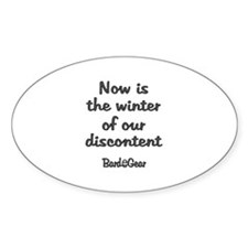 Discontent Oval Decal