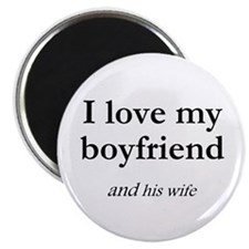 Boyfriend/his wife Magnet