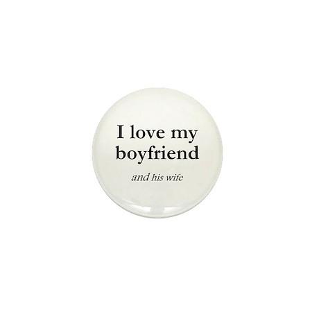 Boyfriend/his wife Mini Button (100 pack)