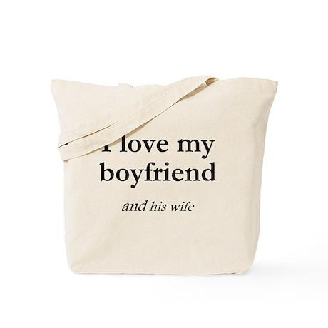 Boyfriend/his wife Tote Bag