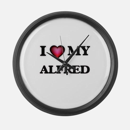 I love Alfred Large Wall Clock