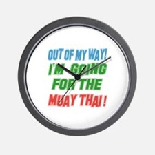 Out of my way ! I'm going for the Muay Wall Clock