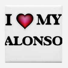 I love Alonso Tile Coaster