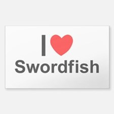 Swordfish Sticker (Rectangle)