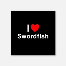 "Swordfish Square Sticker 3"" x 3"""
