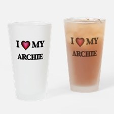 I love Archie Drinking Glass