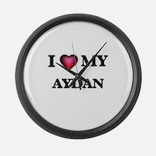 I love Aydan Large Wall Clock