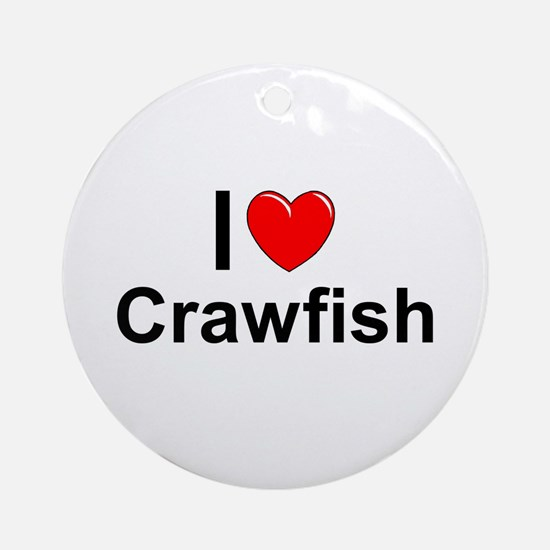Crawfish Round Ornament