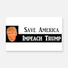 SAVE AMERICA, IMPEACH TRUMP Rectangle Car Magnet