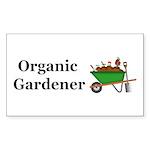 Organic Gardener Sticker (Rectangle 10 pk)