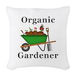 Organic Gardener Woven Throw Pillow