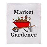 Market Gardener Throw Blanket