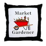 Market Gardener Throw Pillow